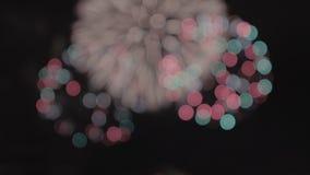 Saluto festivo Fuochi d'artificio Priorità bassa di festa video d archivio