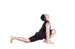 posa della scimmia di hanumanasana di yoga immagine stock