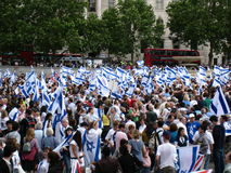 Saluto nell'Israele 2008 Fotografia Stock Libera da Diritti