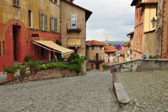 Saluzzo old quarter. Piemonte, Italy Stock Photos
