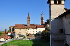 Saluzzo old town. Piemonte, Italy Stock Photos