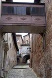 Saluzzo, Piemonte, Italië, historische stad stock fotografie