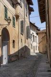 Saluzzo, Piemonte, Italië, historische stad stock afbeeldingen