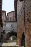 Saluzzo, Piemonte, Italië, historische stad stock afbeelding