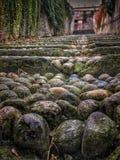 Saluzzo, staircase in stone Stock Photos