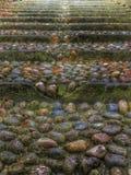 Saluzzo, stone stairway Royalty Free Stock Image