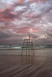 Salva-vidas abandonada Chair Imagens de Stock Royalty Free