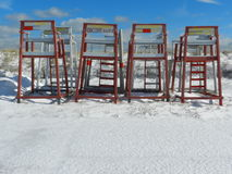 Salva-vidas Chairs Imagens de Stock