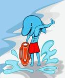 Salva-vidas da praia do golfinho ilustração royalty free