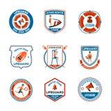 Salva-vidas Emblems Set Imagem de Stock