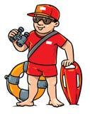 Salva-vidas engraçada Ilustração das crianças ilustração stock