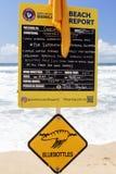 Salva-vidas Safety Beach Report foto de stock