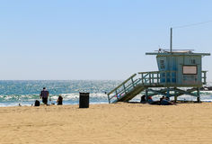 Salva-vidas Station na praia de Veneza Imagens de Stock Royalty Free