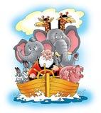 Salvación de Noah de la nave de la arca de Noah de la biblia Foto de archivo