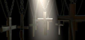 Salvación del crucifijo y del proyector de la ejecución Fotografía de archivo