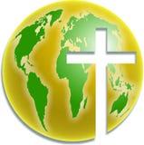 Salvación del mundo stock de ilustración