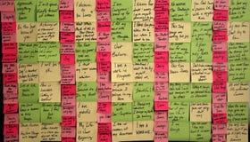 Salvación pegajosa de la nota Imagenes de archivo