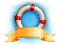 Salvación y bandera Imagen de archivo libre de regalías