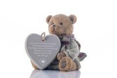 Salvadanaio dell'orso bruno con cuore Immagine Stock Libera da Diritti