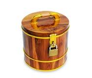 Salvadanaio di legno Fotografie Stock Libere da Diritti