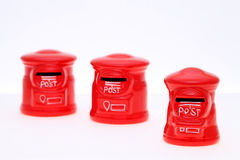 Salvadanaio di stile della banca della posta Fotografie Stock