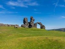Salvado del Dinas de Castell sobre Llangollen País de Gales Imágenes de archivo libres de regalías