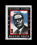 Salvador Allende Gossens, président du Chili, vers 1974, Image libre de droits