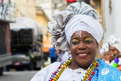 Carnival celebration at Pelourinho in Salvador Bahia, Brazil. Stock Images