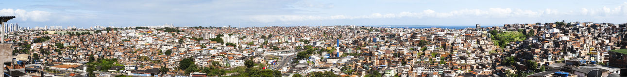 Salvador in Bahia, panoramic view Stock Images