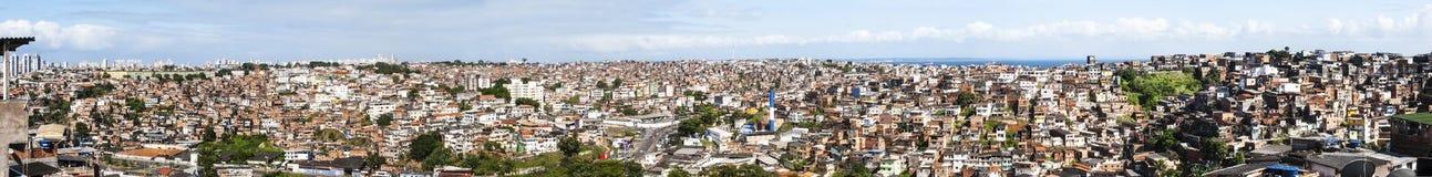 Salvador in Bahia, panoramic view stock images