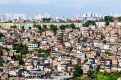 Salvador in Bahia, panoramic view stock image