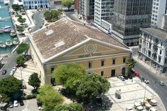 SALVADOR, BRASIL - em janeiro de 2017: Mercado Modelo um dos marcos os mais famosos em Salvador, vista do elevador Lacerda Foto de Stock Royalty Free