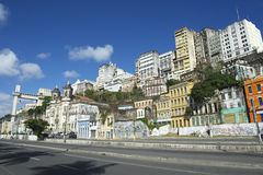 Salvador Brazil City Skyline from Cidade Baixa Royalty Free Stock Images