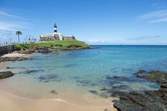 Salvador Brazil Farol da Barra Lighthouse Beach Stock Photo