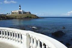 Salvador Brazil Farol da Barra Lighthouse Beach Royalty Free Stock Images