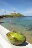 Salvador Brazil Farol da Barra Lighthouse Beach Royalty Free Stock Photography