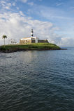 Salvador Brazil Farol da Barra Lighthouse Scenic Royalty Free Stock Images