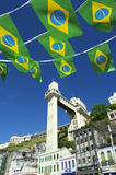 Salvador Brazil Lacerda Elevator with Flags Stock Photo