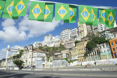 Salvador Brazil Lacerda Elevator with Flags Royalty Free Stock Image