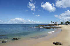 Salvador Brazil Porto da Barra Beach-Fort Santa Maria Stockfotografie