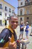 Salvador, Brazylia, koralika sprzedawca zdjęcie stock