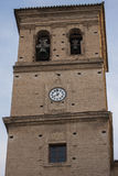 Salvador church belfry. Salvador church is built on the old mosque of the Albaicin, former collegiate education of the Moors. Heritage Stock Image