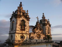 Salvador Church by day. Colonial Portuguese Church with two towers in Salvador, Bahia, Brazil Stock Photography