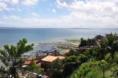 Salvador City. Pedra Furada Neighbohood, is a very popular famous street in Salvador, Bahia Brasil Stock Image