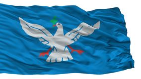 Salvador City Flag, Brasilien, lokalisiert auf weißem Hintergrund stock abbildung