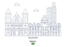 Salvador City Skyline, Brazil Royalty Free Stock Photo