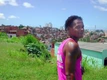 Salvador da Bahia Favela - il Brasile Fotografia Stock Libera da Diritti