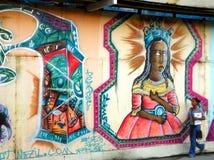 Salvador da Bahia - grafitti Arkivbild