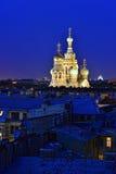 Salvador da igreja no sangue em St Petersburg, Rússia. Fotografia de Stock