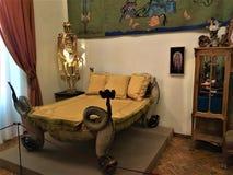 Salvador Dalì meble i łóżko sztuka i wewnętrzny projekt obrazy royalty free